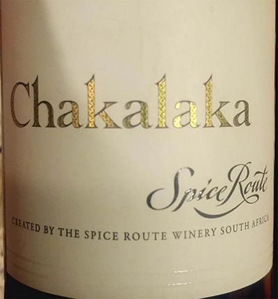 Отзыв о вине Chakalaka Spice Route 2014