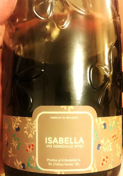 Отзыв о вине Chateau Vartely Isabella vin demidulce rosu 2017