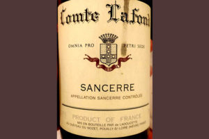 Отзыв о вине Comte Lafond Sancerre rouge 2014