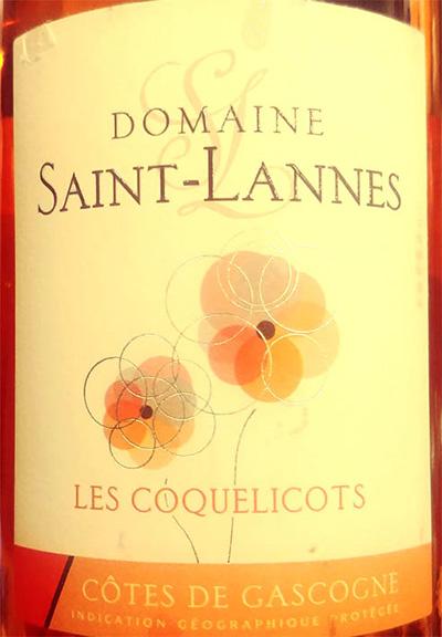 Отзыв о вине Domaine Saint-Lannes Les Coquelicots Cotes de Gascogne 2017