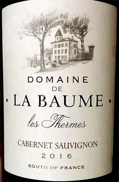 Отзыв о вине Domaine de la Baume Cabernet Sauvignon les Thermes 2016