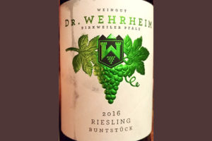 Отзыв о вине Dr.Wehrheim Riesling Buntstuck 2016