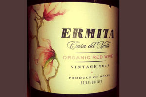 Отзыв о вине Ermita Casa del Valle Organic red wine 2017