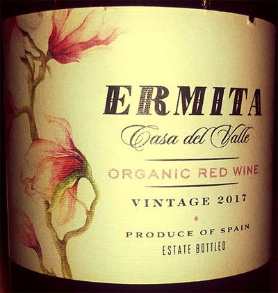 Отзыв о вине Ermita Casa del Valle Organic red wine 2017