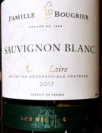 Отзыв о вине Famille Bourgier Sauvignon Blanc Val de Loire 2017