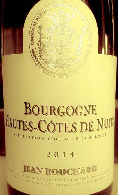 Отзыв о вине Jean Bouchard Bourgogne Hautes-Cotes de Nuits 2014