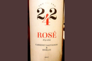Отзыв о вине Kvint 242 Two-Four-Two Rose Cabernet Sauvignon Merlot 2017
