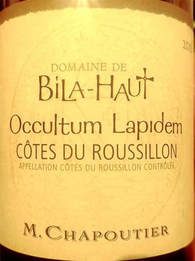 Отзыв о вине M.Chapoutier Domaine de Bil-Haut Occultrum Lapidem Cotes du Roussillon 2016