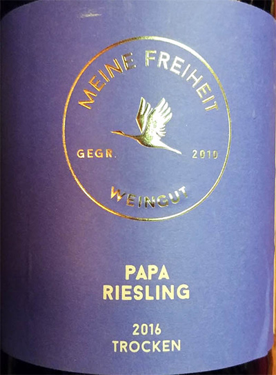 Отзыв о вине Papa Riesling trocken 2016