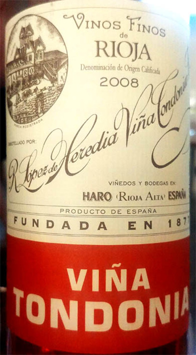 Отзыв о вине R. Lopez de Heredia Vina Tondonia Gran Reserva rosado 2008