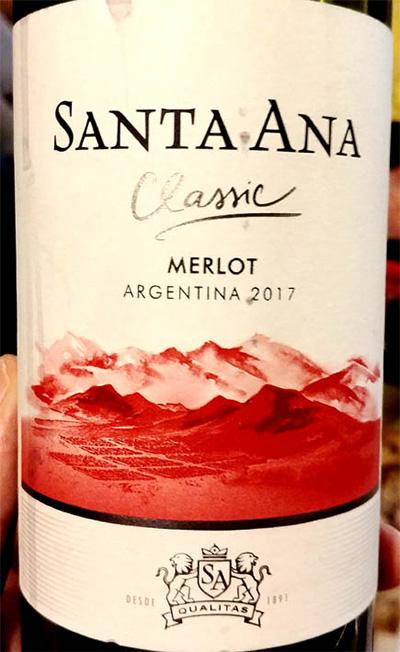 Отзыв о вине Santa Ana classic Merlot 2017