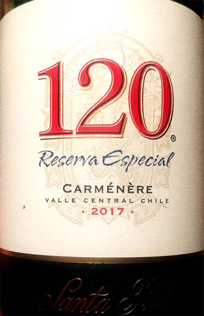 Отзыв о вине Santa Rita 120 Carmenere Reserva Especial 2017