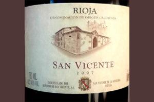 Отзыв о вине Senorio de San Vicente Rioja tinto 2007