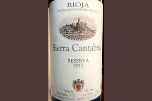 Отзыв о вине Sierra Cantabria Reserva tinto 2012