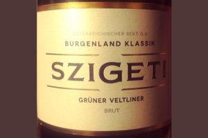 Отзыв об игристом вине Szigeti Burgenland klassik Gruner Veltliner brut