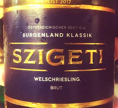Отзыв об игристом вине Szigeti Burgenland klassik welschriesling brut