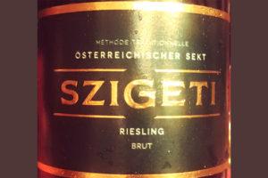 Отзыв об игристом вине Szigeti Osterrechischer sekt riesling brut