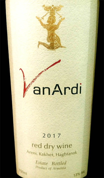 Отзыв о вине Van Ardi red dry estate bottled 2017
