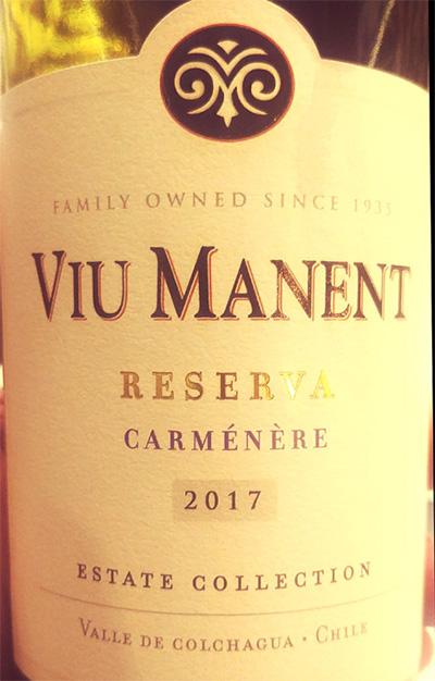 Отзыв о вине Viu Manent Carmenere reserva 2017