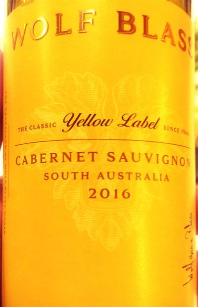 Отзыв о вине Wolf Blass Cabernet Sauvignon Yellow Label 2016