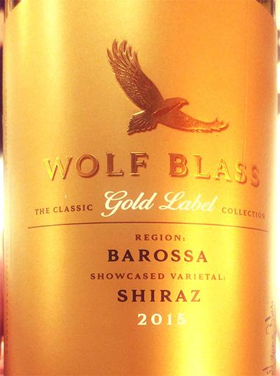Отзыв о вине Wolf Blass Shiraz Barossa Gold Label 2015