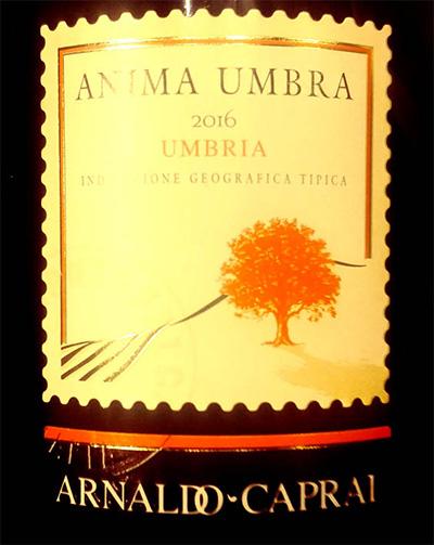 Отзыв о вине Arnaldo-Carpai Anima Umbra Umbria rosso 2016