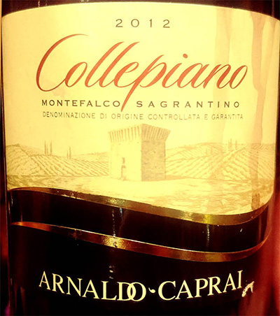 Отзыв о вине Arnaldo-Carpai Collepiano Montefalco Sagrantino rosso 2012