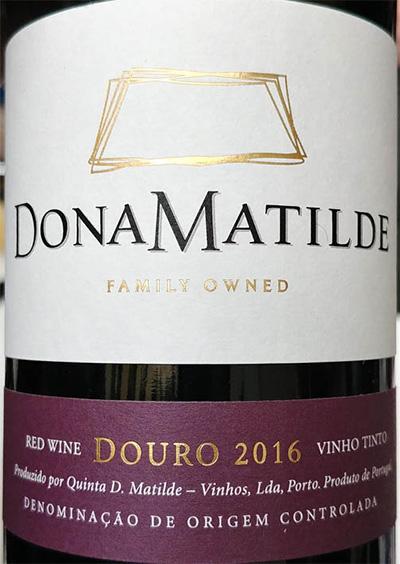 Отзыв о вине Dona Matilde Douro vinho tinto 2016