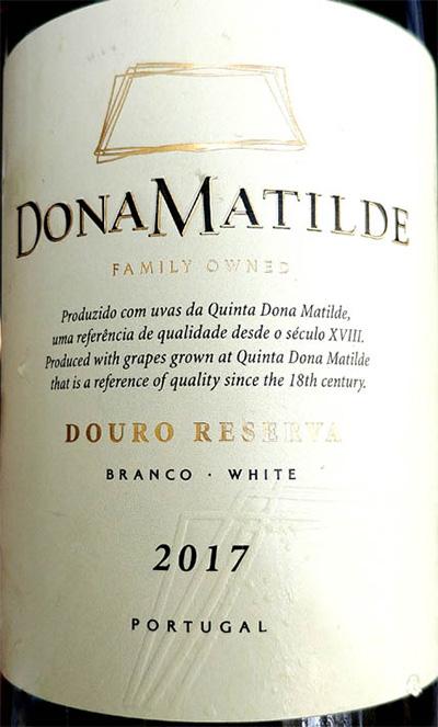 Отзыв о вине Done Matilde Douro reserva white 2017