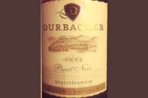 Отзыв о вине Durbacher Pinot Noir Baden Trocken 2015