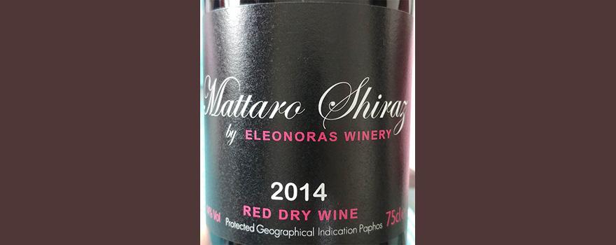 Отзыв о вине Eleonoras Winery Mattaro Shiraz 2014