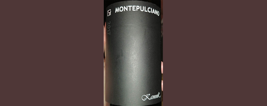 Отзыв о вине Kamnik Vineyards Montepulciano 2017