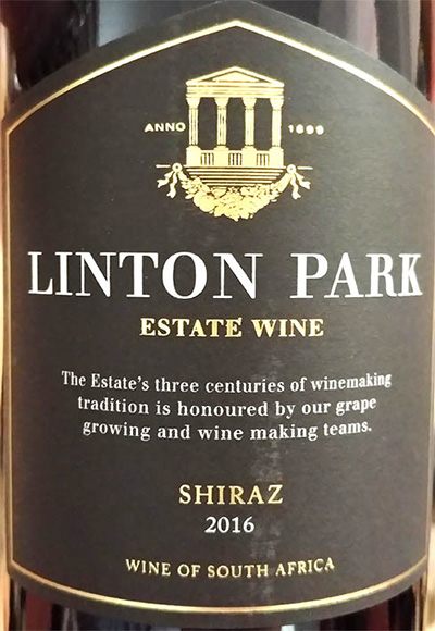 Отзыв о вине Linton Park Shiraz Estate Wine 2016