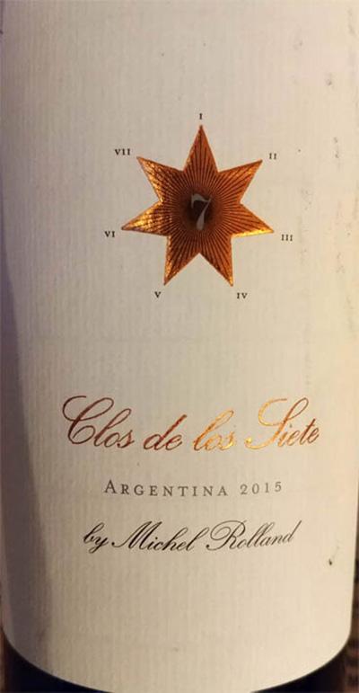 Отзыв о вине Michel Rolland Clos de los Siete 2015