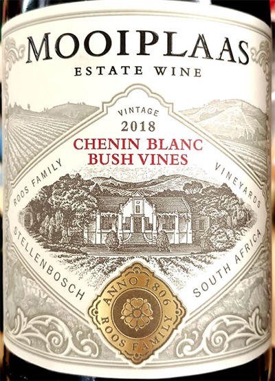 Отзыв о вине MooiPlaas Chenin Blanc Bush Vines Estate wine 2018