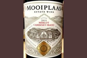 Отзыв о вине Mooiplaas Merlot Cabernet Franc Estate Wine 2015