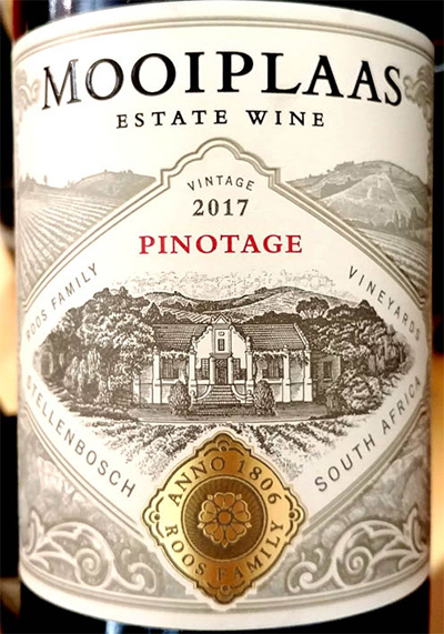 Отзыв о вине Mooiplaas Pinotage Estate Wine 2017