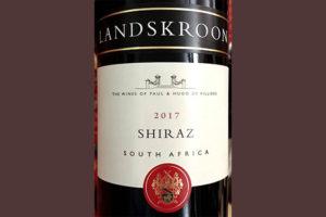 Отзыв о вине Paul & Hugo de Villiers Landskroon Shiraz 2017