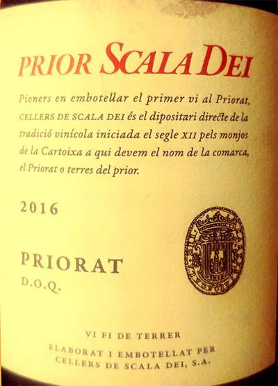 Отзыв о вине Prior Scala Dei Garnatxa Priorat 2016