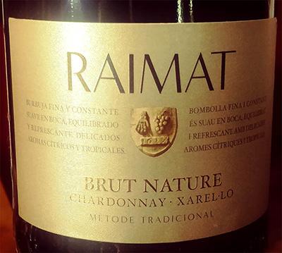 Отзыв об игристом вине Raimat Brut Nature Chardonnay Xarello