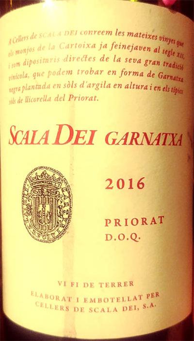 Отзыв о вине Scala Dei Garnatxa Priorat 2016