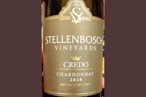 Отзыв о вине Stellenbosch Vineyards Credo Chardonnay 2018