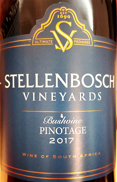 Отзыв о вине Stellenbosch Vineyards Pinotage Bushwine 2017