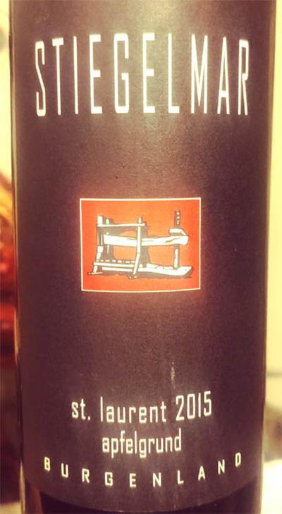 Отзыв о вине Stiegelmar St. Laurent apfelgrund 2015