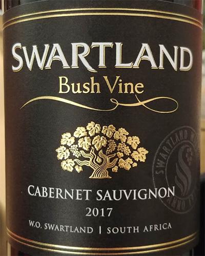 Отзыв о вине Swartland Bush Vine Cabernet Sauvignon 2017
