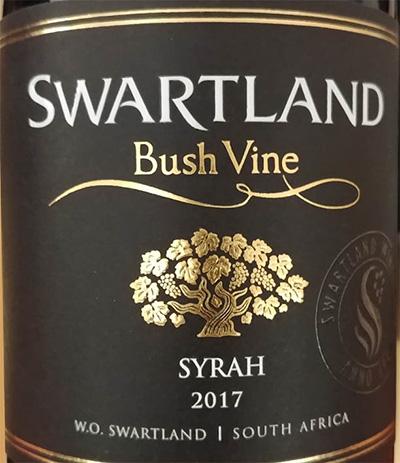 Отзыв о вине Swartland Bush Vine Syrah 2017
