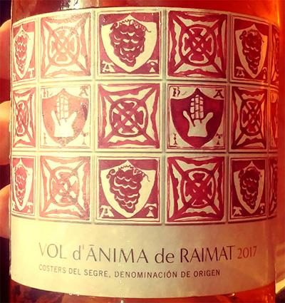 Отзыв о вине Vol d'Anima de Raimat Rose 2017