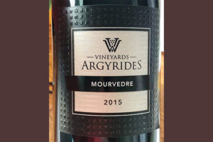 Отзыв о вине Argyrides Vineyards Mourvedre 2015