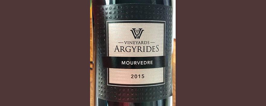 Отзыв о вине Argyrides Vineyards Mourvedre 2015