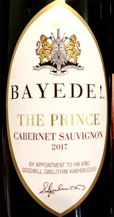 Отзыв о вине Bayede! The Prince Cabernet Sauvignon 2017
